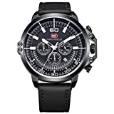 Men Chronograph Wristwatches Analog Quartz Business Sports Dress Watches Water Resistant