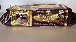 Greek Macedonian Halva with Cocoa 500gr 17.63 Oz (Fresh Pack)