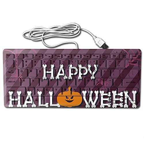 Halloween Background Design Ultra-Slim 78 Keys Gaming Keyboard Can Apply Or Be Used Universally