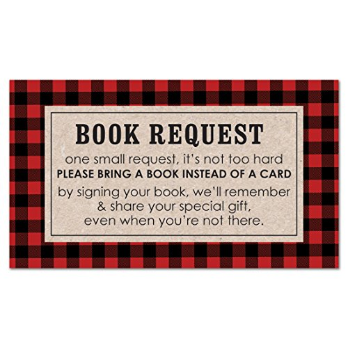 MyExpression.com 48 cnt Lumberjack Baby Shower Book Request Cards