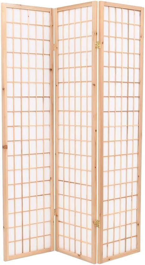 binzhoueushopping Paravientos Plegable de 3 Puertas Estilo Japonés ...