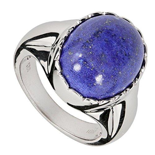 La Luna Design Solitaire-Bague Femme-Argent 925/1000rhodié Lapis Lazuli Lapis Lazuli