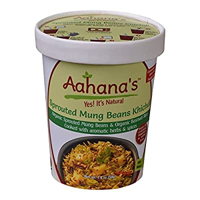 Vegan Organic Basmati Rice with Organic Split Red Lentil Ayurveda Bowl Khichri Gluten Free by Aahana's (Pack of 4)