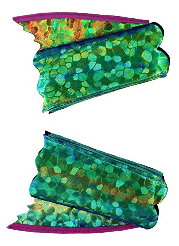 elope Seahorse Mermaid Shimmer Fin Arm Cuffs  Blue/Green -