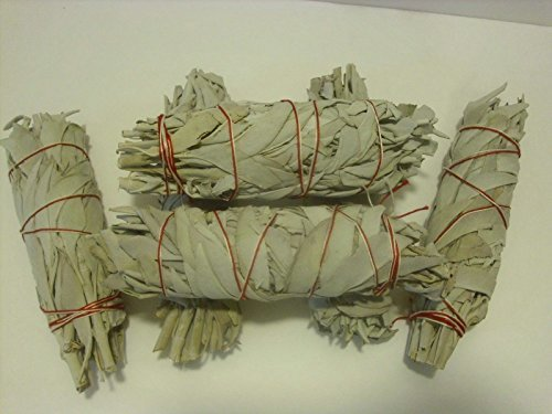 6 Pcs California White Sage Bundle Smudge Incense 5