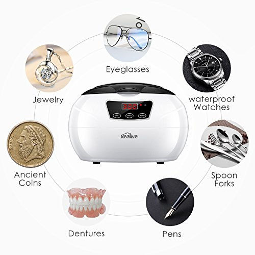 Review Ultrasonic Cleaner, Kealive 600ML