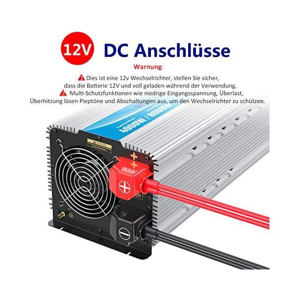 51ywLfW1zEL 3000W Wechselrichter 12V auf 230V Reiner Sinus Spannungswandler Umwandler-Inverter Konverter mit Fernbedienung LED…