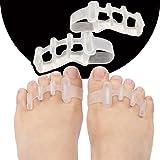 4 Pack Upgraded Toe Separators, Awesome Toe Gel