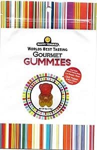 Happy Yummies Worlds Best Tasting Gourmet Gummies Small Batch Artisanal Chili Pepper & Wild Cherry Flavor Gummy Bears 4oz