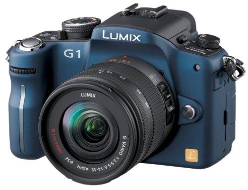 パナソニック デジタル一眼カメラ LUMIX (ルミックス) G1 レンズキット コンフォートブルー DMC-G1K-A   B001FWYH38