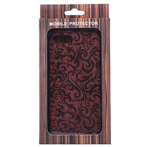 GR iPhone 7 Plus Abdeckung Fall -Artistic Carving Muster Rosewood + PC Bordure Schutzmaßnahmen zurück Fall Shell ( SKU : Ip7p1451l )