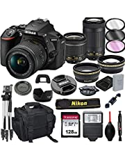 $899 » Nikon D5600 DSLR Camera with 18-55mm VR and 70-300mm Lenses + 128GB Card, Tripod, Flash, ALS Variety Lens Cloth, and More