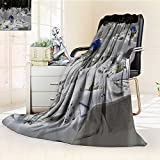 YOYI-HOME Luminous Microfiber Throw Duplex Printed Blanket Scene Shooting of The Hotel Wedding Warm Microfiber All Season Soft and Durable Polyester/59 W by 79'' H