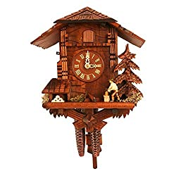 Black Forest Woodcutter 9.75 Inch Wide Cuckoo Clock by Alexander Taron