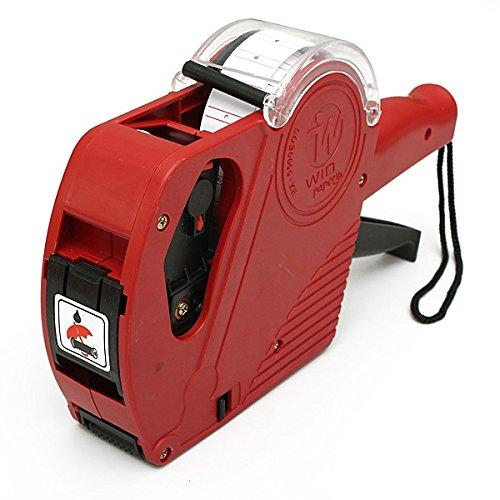 Preisauszeichner Etikettiermaschine 8 Stellig Preispistole Etikettierer Etiketten (Rot)