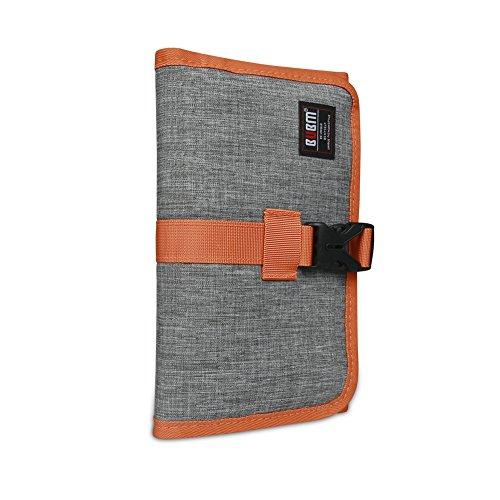 Large Product Image of Travel Organizer, BUBM Cable Bag/USB Drive Shuttle Case/ Electronics Accessory Organizer-Grey