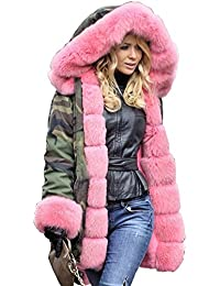 Amazon.com: Plus Size - Fur & Faux Fur / Coats, Jackets & Vests ...