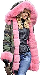 Amazon.com: Green - Fur &amp Faux Fur / Coats Jackets &amp Vests