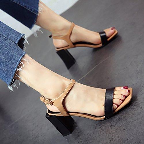 YMFIE Verano Europeo Dedos Talones Talones Damas' Zapatos Zapatos de Moda Zapatos de Moda a