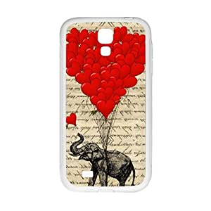 Elephant with Red heart shape balloon Cell Phone Case for Samsung Galaxy S4