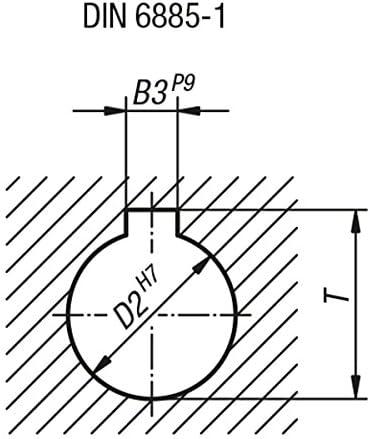 Tilt Handwheel with Nut Aluminium Complete: Aluminium D2/= 22 1/Piece D1/= 200 k0160.5200x22