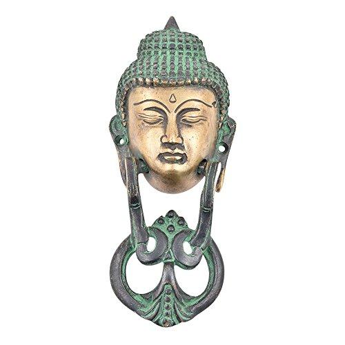 IndianShelf Handmade Brass Buddha Face Door Knocker-1 Piece(MDK-42)