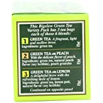 Bigelow 6 assorted green tea bags, 18-count box (pack of 6), caffeinated green tea, 108 tea bags total 12 healthy antioxidants: enjoy the health benefits of green tea with this delightful variety pack, containing: classic green tea, green tea with peach, green tea with lemon, green tea with mint, decaffeinated green tea, and green tea with pomegranate. Individually wrapped: bigelow tea always come individually wrapped in foil pouches for peak flavor, freshness, and aroma to enjoy everywhere you go! Gluten -free, calorie-free, & kosher certified; bigelow tea delivers on all the health benefits of tea. Try every flavor: there's a bigelow tea for every mood and every time of day. Rise and shine with english breakfast, smooth out the day with vanilla chai, get an antioxidant boost from green tea, or relax & restore with one of our variety of herbal teas.