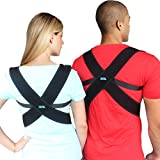 Creatrill Posture Corrector Brace with Memory Foam Padding Under Arms for Women Men, Support Brace To Improve Bad Slouching, Shoulder Alignment, Upper Back Pain Relief, Thoracic Kyphosis, REG Size