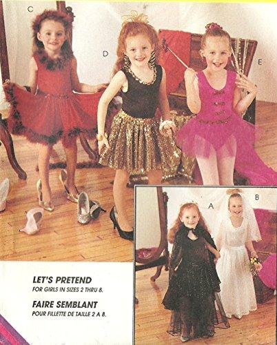 McCall's sewing pattern 7848 girls costumes: ballerina, bride, dance, fairy princess - Size L (7-8)