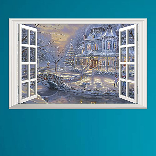 Winter Castle 3D Window Wall Decal