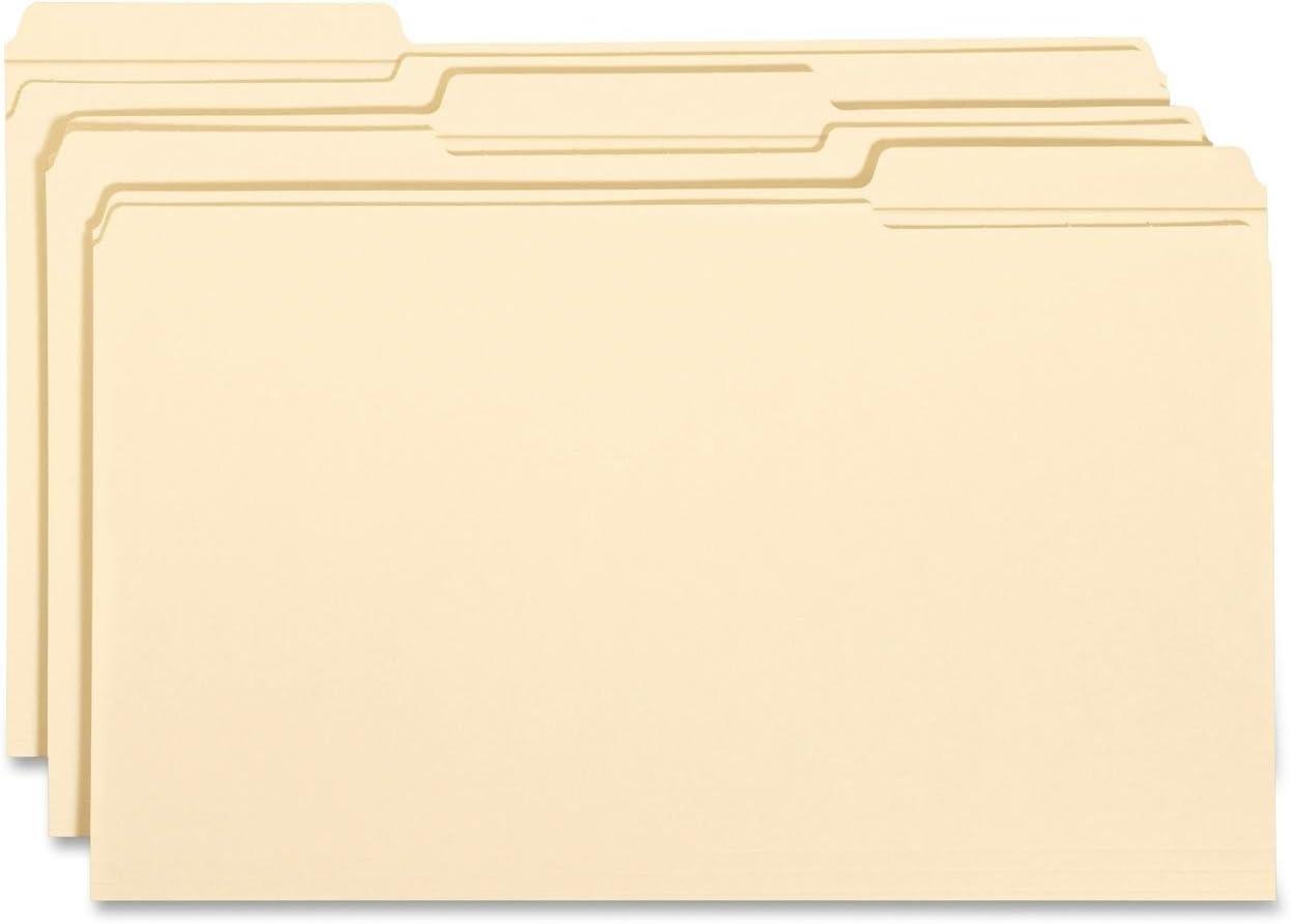 Smead File Folder, Reinforced 1/3-Cut Tab, Legal Size, Manila, 100 Per Box (15334)