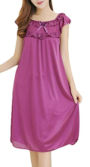 GAGA Women Summer Sexy Ice Silk Pajamas Nightdress 1 M 622d9dbf0