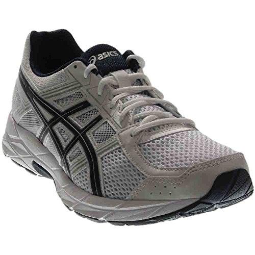 ASICS Men's Gel-Contend 4 Running-Shoes, White/Black/Insignia Blue, 8 Medium US