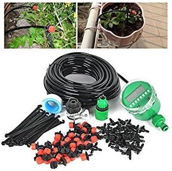 25M Automatisch Bewässerungssystem Micro Drip Garten Pflanze Mit Bewässerungsuhr
