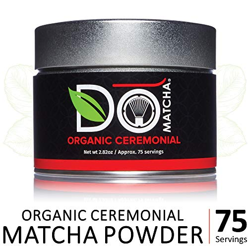 (DoMatcha - Organic Ceremonial Green Tea Matcha Powder, Natural Source of Antioxidants, Caffeine, and L-Theanine, Promotes Focus and Relaxation, 75 Servings (2.82 oz))