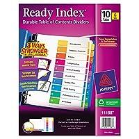 Avery Ready Índice Tabla de contenidos Divisores, Conjunto de 10 fichas, 6 Conjuntos (11188)