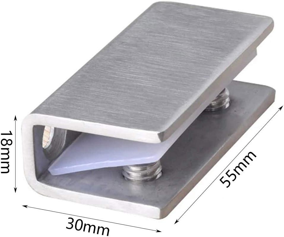 2 bisagras de cristal para puerta de ducha de 8 a 12 mm: Amazon.es ...