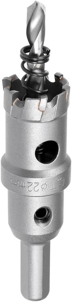 17.5mm sourcing map taladro metal de Taladro de Sierra Cortadora de Agujeros de Carburo de aleaci/ón de acero inoxidable
