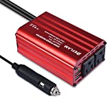 DEFLAM 300W Power Inverter DC 12V to 110V AC Car Inverter with 4.8A Dual USB Charging Ports Adapter for Laptop, Smartphones and Tablets