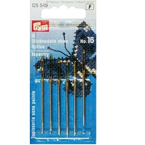 2 x 1 x 1 cm sans Pointe ARG//o Acier Inoxydable Argent Prym 125559 Aiguille//Tapisserie n/°18-22 Ass