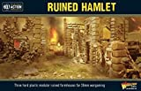 Bolt Action Ruined Hamlet 3 Buildings 1:56 WWII Military Wargaming Diorama Plastic Model Kit