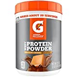 Gatorade Whey Protein Powder, Chocolate Caramel, 21 Ounce (20 servings per canister, 20 grams of protein per serving)
