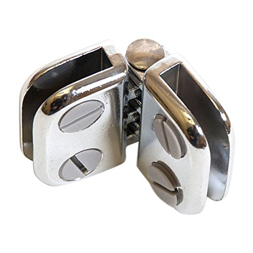 KC Store Fixtures A14307 Hinge for Glass, 3/16'', Chrome (Pack of 100)