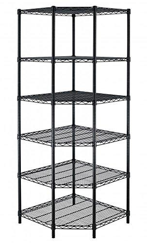 New Heavy Duty Wire Steel 6-Tier Corner Shelf Garage Storage Shelving Rack C706