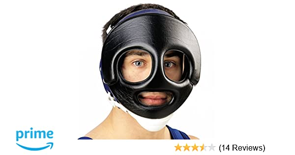 47fe621c22c Amazon.com   Cliff Keen Wrestling Face Guard Black   Wrestling Protective  Headgear   Sports   Outdoors