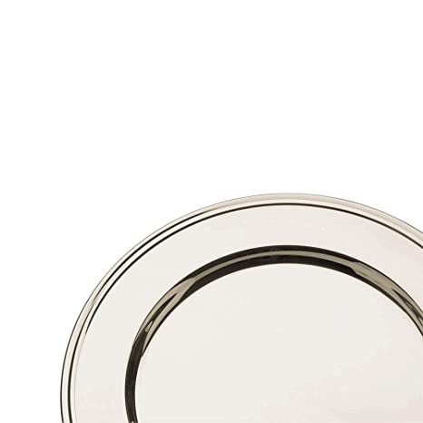 Broggi plato presentación con decoración Inglese diám.30 cm alpaca plateada