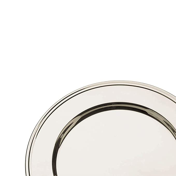 Broggi plato presentación con decoración Inglese diám.30 cm alpaca plateada: Amazon.es: Hogar
