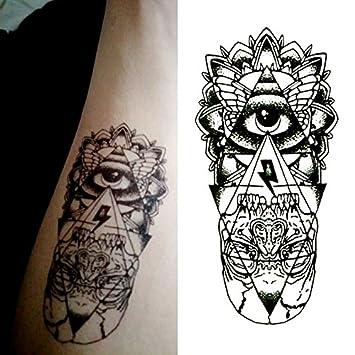 Oottati Pequeño Lindo Tatuaje Temporal Triángulo Ojo Dios (2 Hojas ...