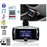 Rymemo 2016 Classic Univeral LCD Display Bluetooth Wireless Car MP3 FM Transmitter SD MMC USB Modulator Radio Adapter Handsfree Car Kit For Calling and listening to music, with Charging Port for Cellphone and Other Bluetooth enabled Devices