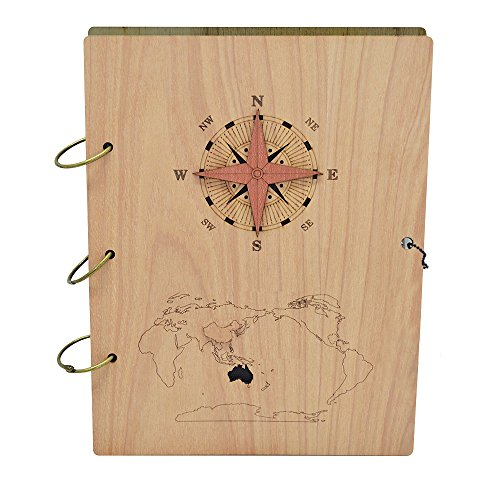 Giftgarden Nautical 5x7 Photo Album 120 Pockets Wood Photo Book Albums Hold 5 7 inch ()